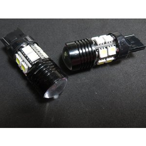 LED T20 高輝度 バックライト 10個入り 12SMD 5050 + CREE 白 シングル球|kura-parts