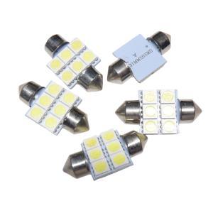 LED T10 31mm 10個入り 6SMD 5050 白|kura-parts