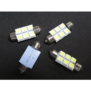 LED T10 36mm 10個入り 6SMD 5050 白|kura-parts