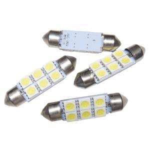 LED T10 39mm 10個入り 6SMD 5050 白|kura-parts