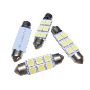 LED T10 41mm 10個入り 6SMD 5050 白|kura-parts