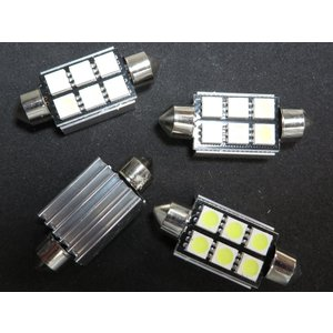 LED T10 39mm ヒートシンク CAN-BUS対応品 6SMD 5050 白|kura-parts