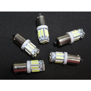LED BA9s 10個入り 10SMD 7014 白|kura-parts