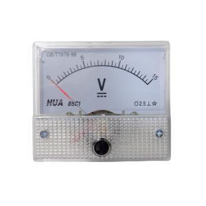 アナログ電圧計 DC 15V パネルメーター|kura-parts