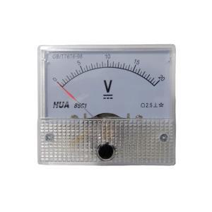 アナログ電圧計 DC 20V パネルメーター|kura-parts