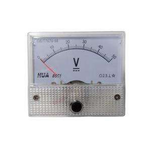 アナログ電圧計 DC 50V パネルメーター|kura-parts