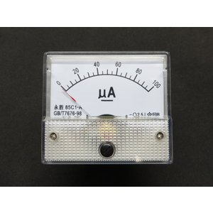 アナログ電流計 DC 100uA パネルメーター|kura-parts