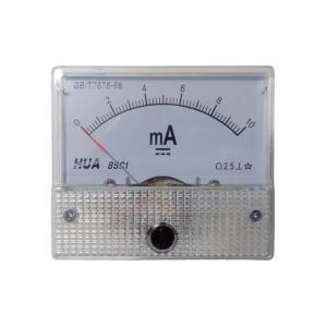 アナログ電流計 DC 10mA パネルメーター|kura-parts