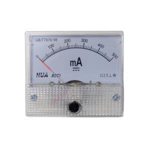 アナログ電流計 DC 500mA パネルメーター|kura-parts