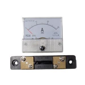 アナログ電流計 DC 30A パネルメーター 分流器外付け型|kura-parts