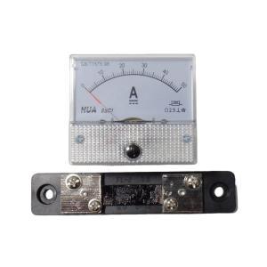 アナログ電流計 DC 50A パネルメーター 分流器外付け型|kura-parts
