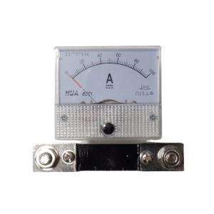 アナログ電流計 DC 100A パネルメーター 分流器外付け型|kura-parts