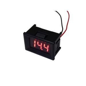 デジタル電圧計 DC4V-DC30V 赤色 パネル取り付け型|kura-parts