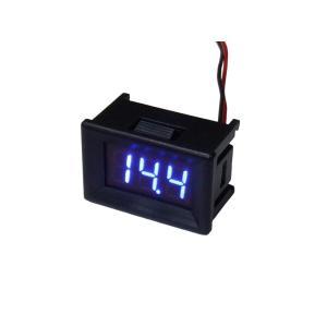 デジタル電圧計 DC4V-DC30V 青色 パネル取り付け型|kura-parts