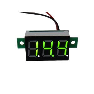 デジタル電圧計 DC4V-DC30V 黄緑色|kura-parts