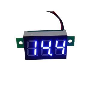 デジタル電圧計 DC4V-DC30V 青色|kura-parts