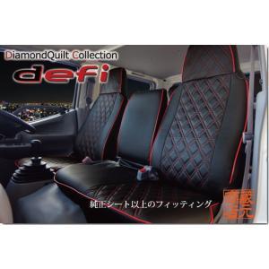 キルティング☆三菱 ブルーテック キャンターワイド 専用設計PVC 本革調シートカバー|kura1