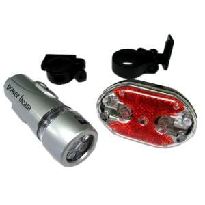 送料無料! 自転車オプショナルパーツ 高輝度LEDライト/前後セット|kura1