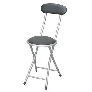 ホームチェア (ブラック/黒) 折りたたみ椅子/カウンターチェア/合成皮革/スチール/パイプイス/いす/背もたれ付き/軽量/コンパクト/完成品/NK-001|kuraki-26