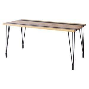 ダイニングテーブル(天然木/アイアン) LEIGHTON(レイトン) ナチュラルミックス NW-114NA|kuraki-26