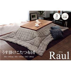 こたつ布団 こたつ掛け布団 正方形 掛け単品 『ラウル』 ベージュ 約205×205cm kuraki-26