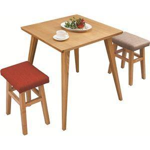 〔単品〕ダイニングテーブル 〔バンビ〕 正方形 木製 2人掛けサイズ CL-786TNA ナチュラル|kuraki-26