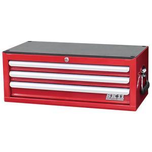 工具箱 工具入れ ツールボックス スチール製 ミドルチェスト(3段引出し) 幅660×奥307×高さ251mm ローラーキャビネット組合せ最適|kuraki-26