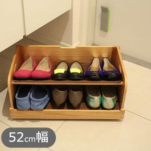 下駄箱下の空間を有効活用! 玄関もスペースの有効活用でスッキリ! 棚板を斜めにセットすると靴を上下に...