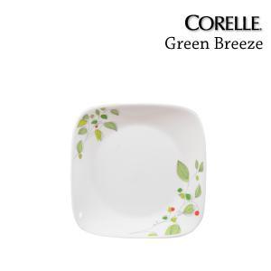 半額 コレール グリーンブリーズ /CORELLE Green Breeze スクエア小皿 J2206-GB CP-9273【ポイント5倍】(メーカー)|kurashi-arl