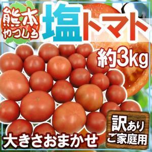 """【送料無料】熊本県やつしろ産 """"塩トマト"""" 訳あり 約3kg..."""