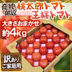 """【送料無料】訳あり """"桃太郎トマトor王様トマト"""" 約4kg..."""