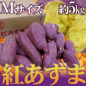 """千葉・茨城県産 """"紅あずま"""" Mサイズ 約5kg さつまいも"""