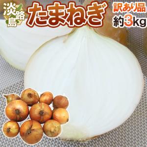 """【送料無料】淡路島 """"新たまねぎ"""" 訳あり 約3kg《2セッ..."""