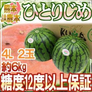 """【送料無料】熊本産 JA鹿本 """"小玉すいか ひとりじめ"""" 4..."""