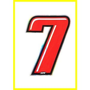 Quattroerre Racing Number 6 Anodized Small Blue