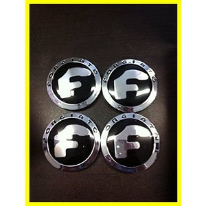 Forgiato New Set of 4 Chrome ホイール Caps