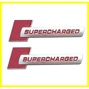 SUKRAGRAHA 2pc Supercharged Alloy Badge Emblems 3D Decal Replacement for TT A3 A4 A5 A6 A7 A8 Q3 Q5 Q7 S4 S6 S5 RS5