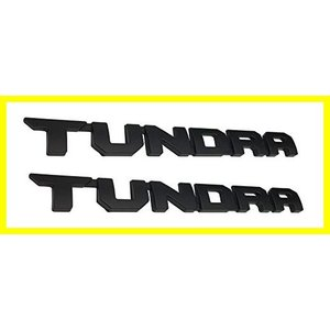 1pc 14 inch Tundra Emblems 3D Origianl Door Badges for TRD SR5 Nameplate Black