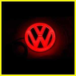 1K0853675Q GQF Original VW 4MOTION Rear Trunk Boot Badge Emblem Chrome Red