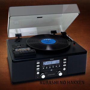 TEAC ターンテーブル/カセット付CDレコーダー LP-R550USB-B 送料無料|kurashi