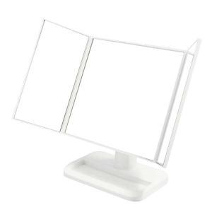 永井興産 三面鏡メイクアップミラー NK-242 ホワイト kurashiichibankan