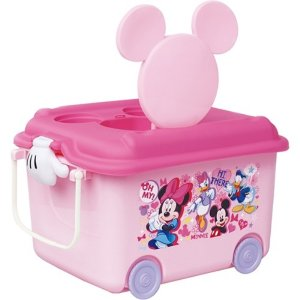 錦化成 おもちゃ箱 ミニーマウス P-fun   【商品サイズ  幅58×奥行41x高さ34cm】|kurashiichibankan