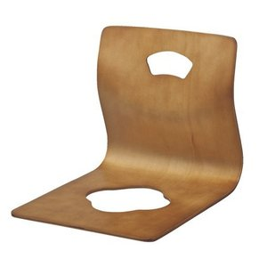 弘益 木製曲げ木座椅子GZ-395 ブラウン 【 1個 】|kurashiichibankan