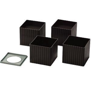 石丸合成樹脂 こたつやテーブルの脚を高さを変えられる ニューハイヒール100  4個組|kurashiichibankan