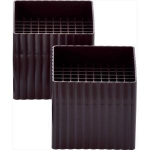 石丸合成樹脂 ベットの高さを変えられる ハイヒールプラススクエア 2個組 チョコレートブラウン|kurashiichibankan