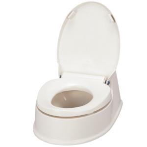アロン化成 サニタリエースHG両用式  簡易設置トイレ アイボリー|kurashiichibankan