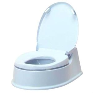 アロン化成 サニタリエースHG両用式 簡易設置トイレ ライトブルー|kurashiichibankan