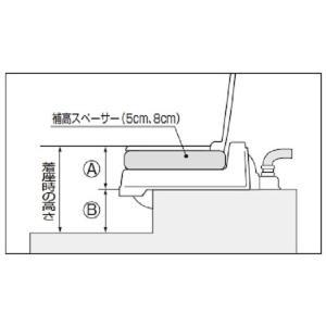アロン化成 補高スペーサー 8cm (アロン化成 サニタリエースOD暖房便座 両用式用)|kurashiichibankan