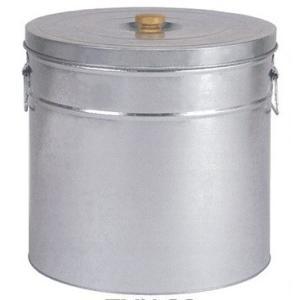 三和金属 トタン丸型米びつ TMK-30 シルバー 30kg|kurashiichibankan