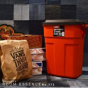 東谷 トラッシュカン 30L ゴミ箱 屋外用 大型 ダストボックス ペールボックス 収納ボックス 車庫 リビング ふた付き レッド L-941R|kurashikan